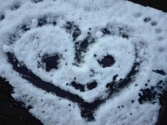 Liebeserklärung im Winter