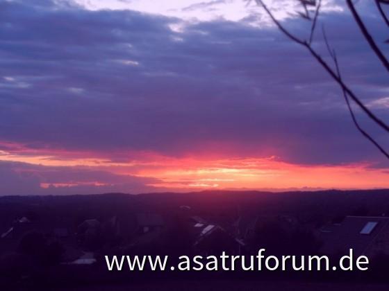 jetziger Sonnenuntergang