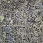 Gedenkstein für eine alte Kirche in Sandvik, Schweden [1]
