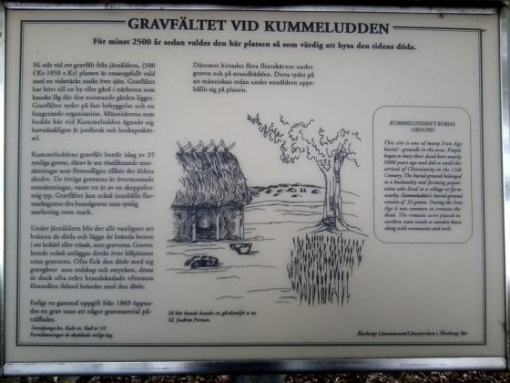 Beschreibung der Begräbnisstätte bei Kummeludden, Schweden [1]